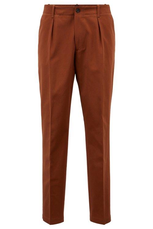 Hugo Boss - Relaxed-Fit Hose aus Baumwoll-Gabardine mit aufgesetzten Taschen - 1