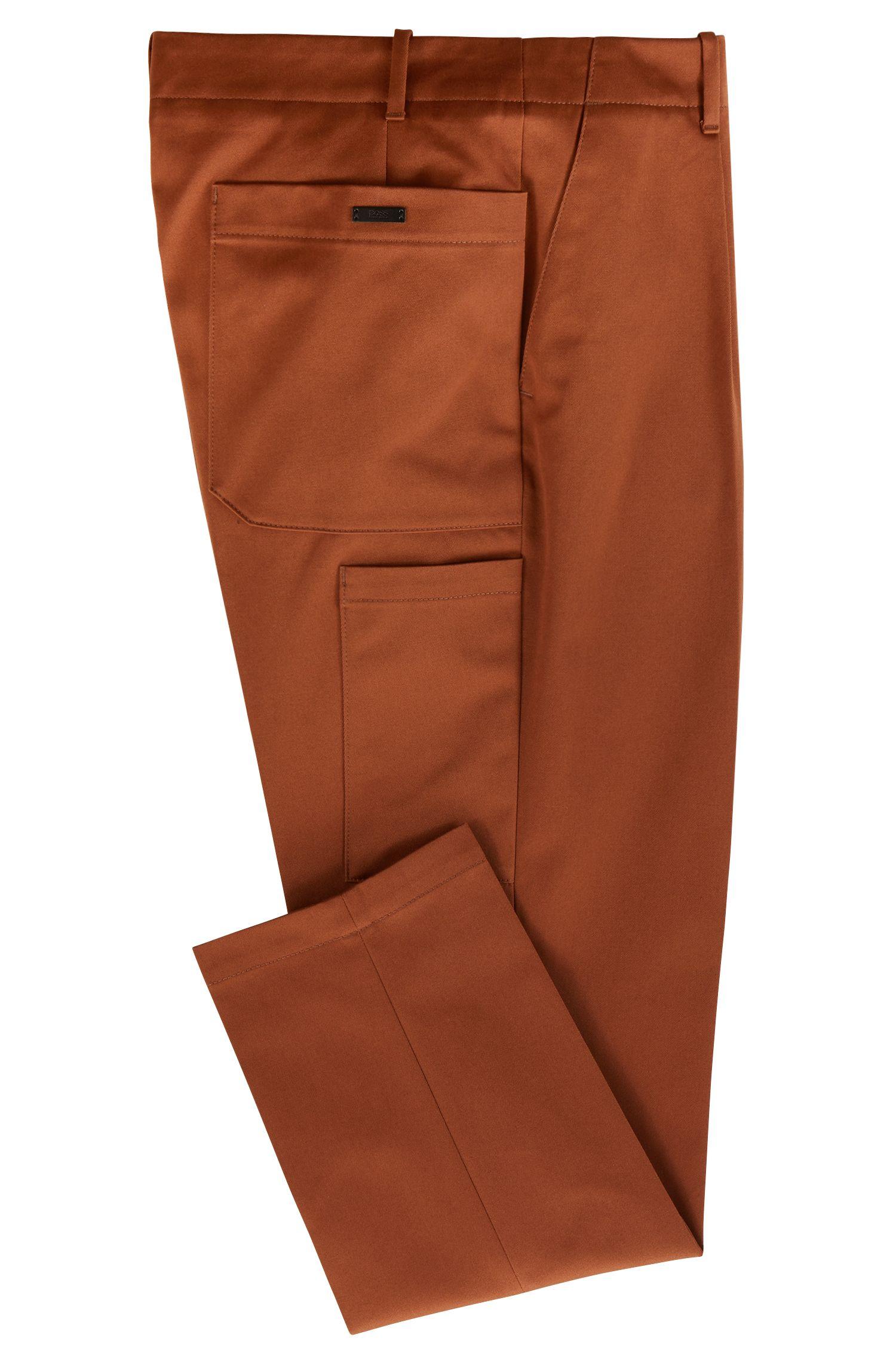Hugo Boss - Pantalones relaxed fit en tejido de gabardina de algodón con bolsillos cosidos - 3