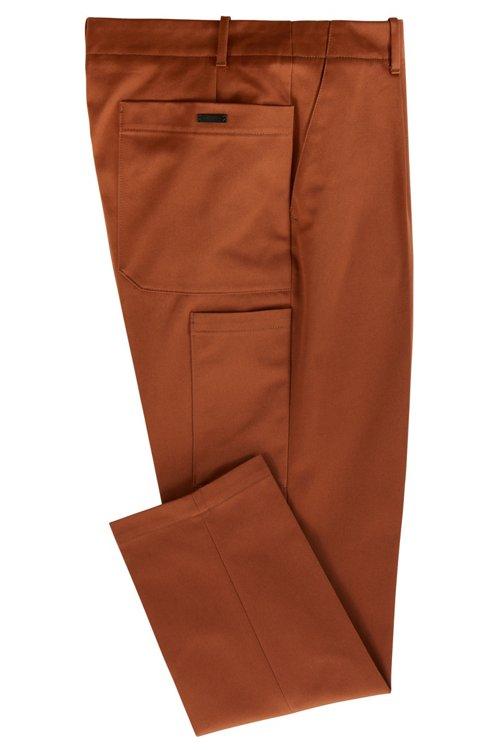 Hugo Boss - Relaxed-Fit Hose aus Baumwoll-Gabardine mit aufgesetzten Taschen - 3
