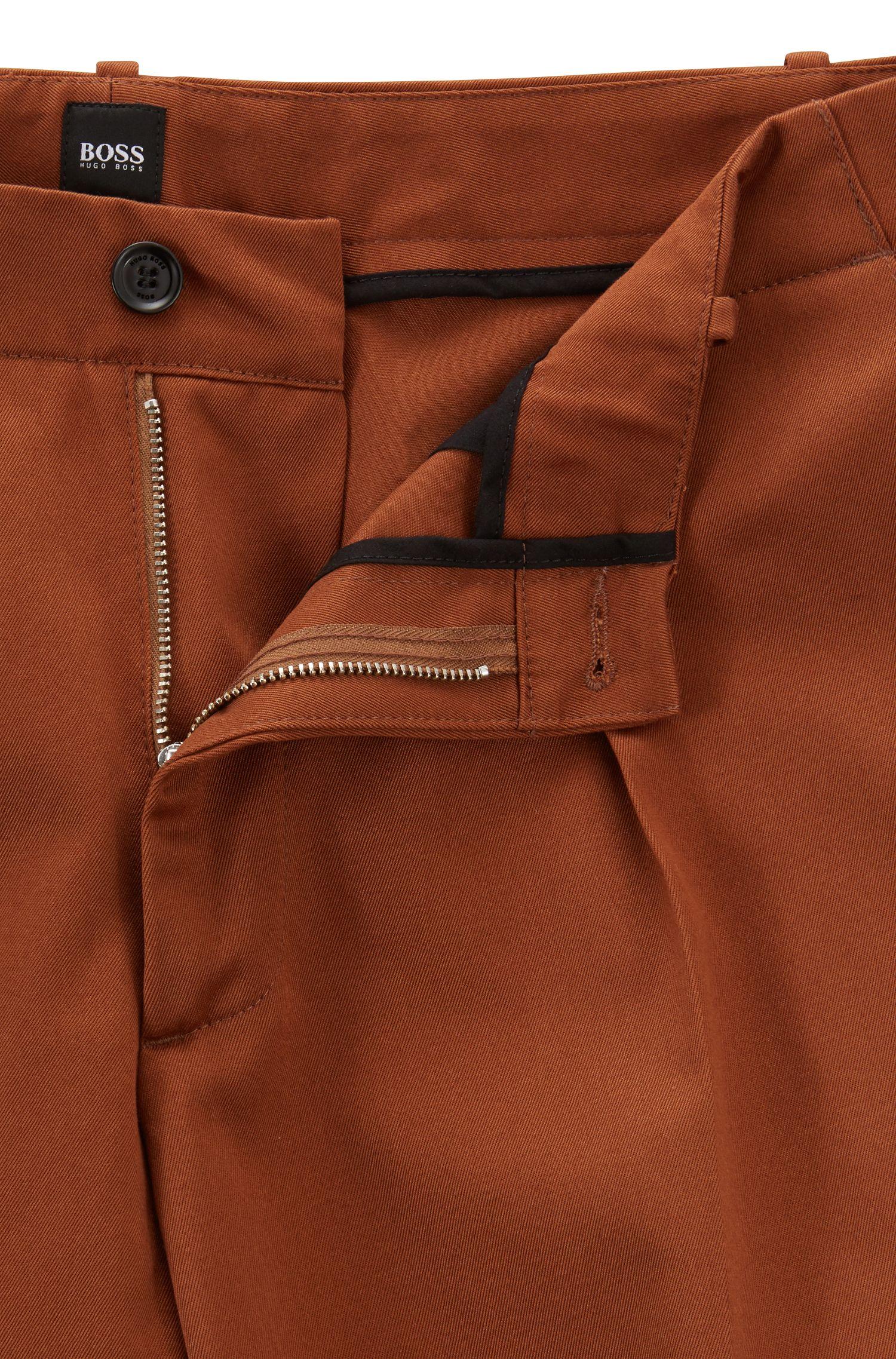 Hugo Boss - Pantalones relaxed fit en tejido de gabardina de algodón con bolsillos cosidos - 4