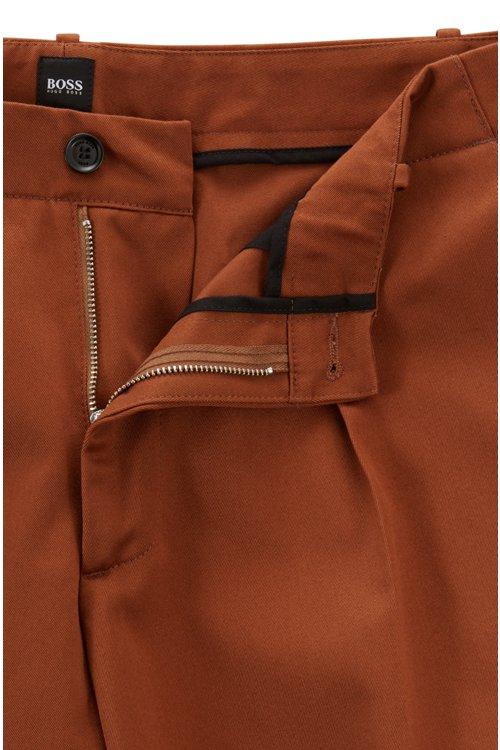 Hugo Boss - Relaxed-Fit Hose aus Baumwoll-Gabardine mit aufgesetzten Taschen - 4