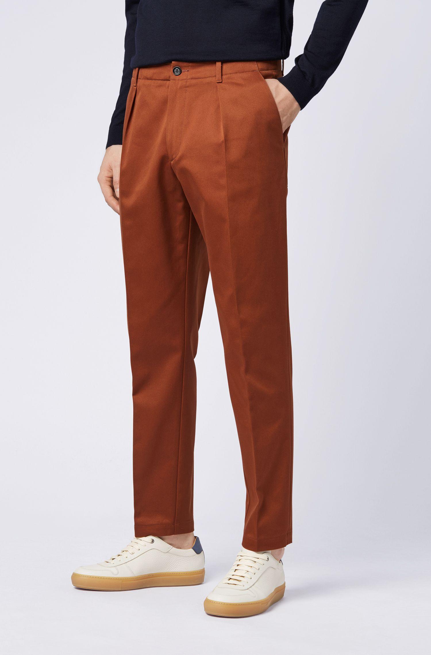 Hugo Boss - Pantalones relaxed fit en tejido de gabardina de algodón con bolsillos cosidos - 5