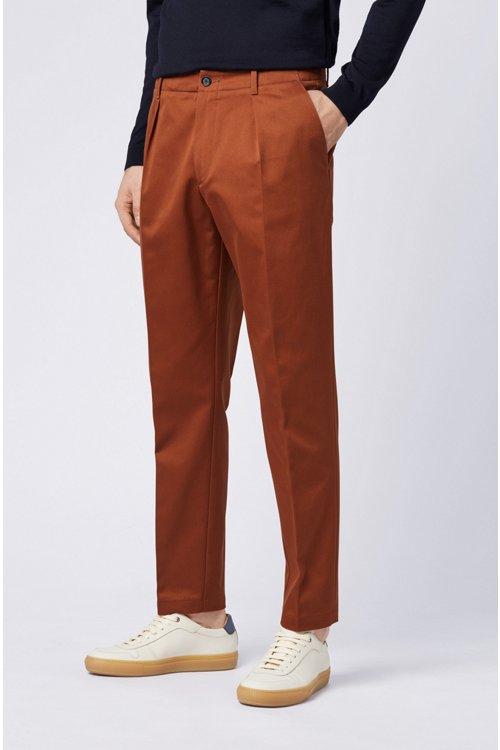 Hugo Boss - Relaxed-Fit Hose aus Baumwoll-Gabardine mit aufgesetzten Taschen - 5
