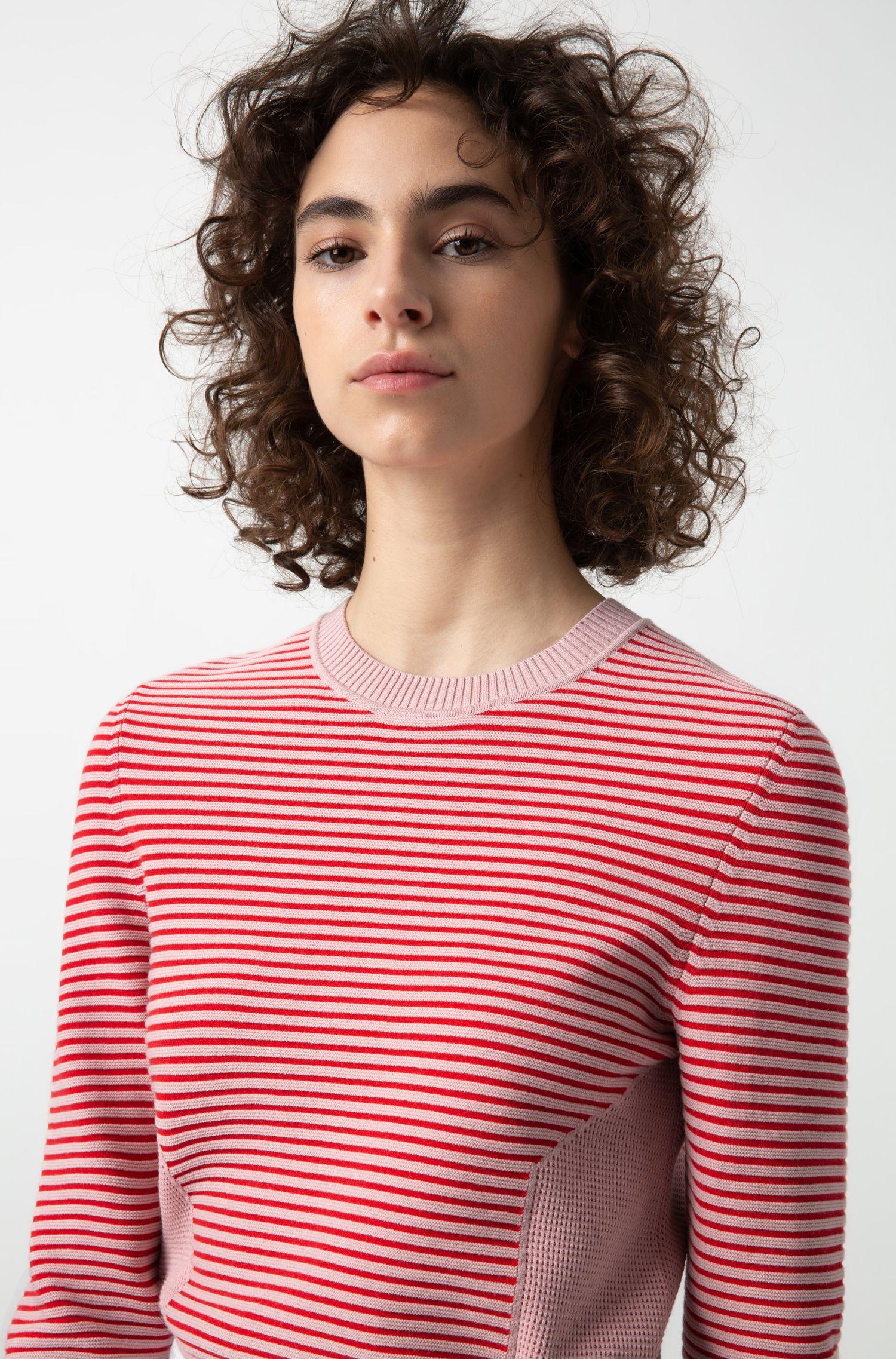 Gebreide trui met afwisselende strepen, Bedrukt