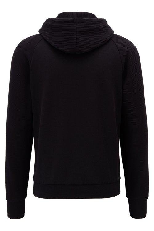 Hugo Boss - Kapuzen-Sweatshirt aus Stretch-Baumwolle mit Logo und Reißverschlusstasche am Ärmel - 3