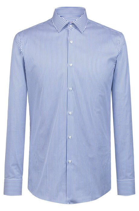 674ffbb17 HUGO - Slim-fit shirt in two-ply cotton