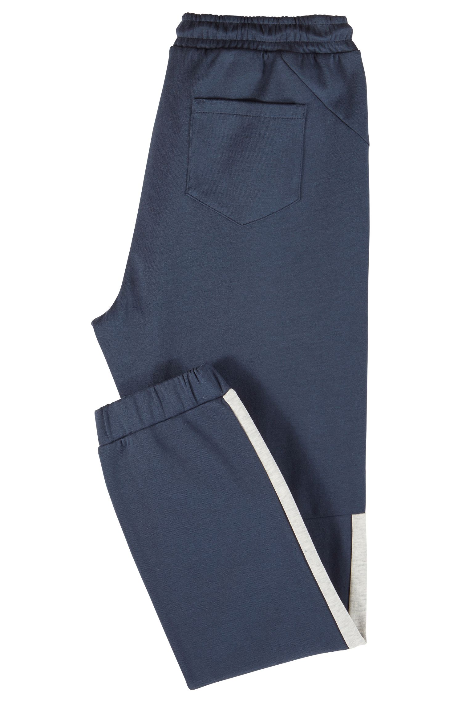 Regular-fit tracksuit bottoms with colour-block detailing, Dark Blue