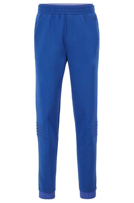 Regular-Fit Hose aus Jersey mit Streifen-Stickerei, Blau