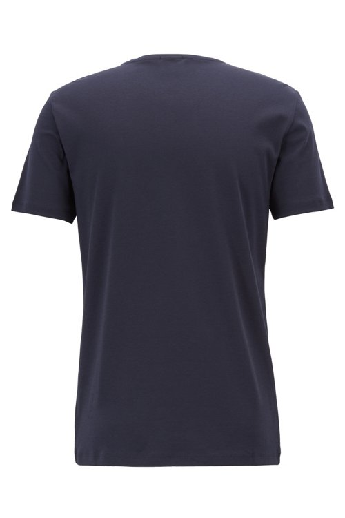 Hugo Boss - Camiseta slim fit de algodón con estampado 3D - 3