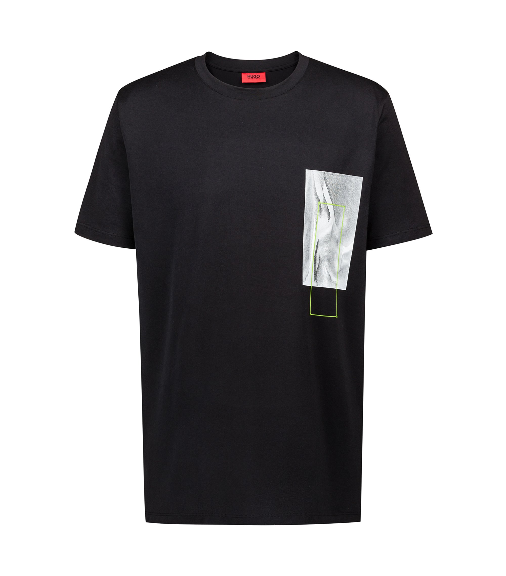 Bits & Bytes Capsule relaxed-fit T-shirt with digital-inspired print, Black