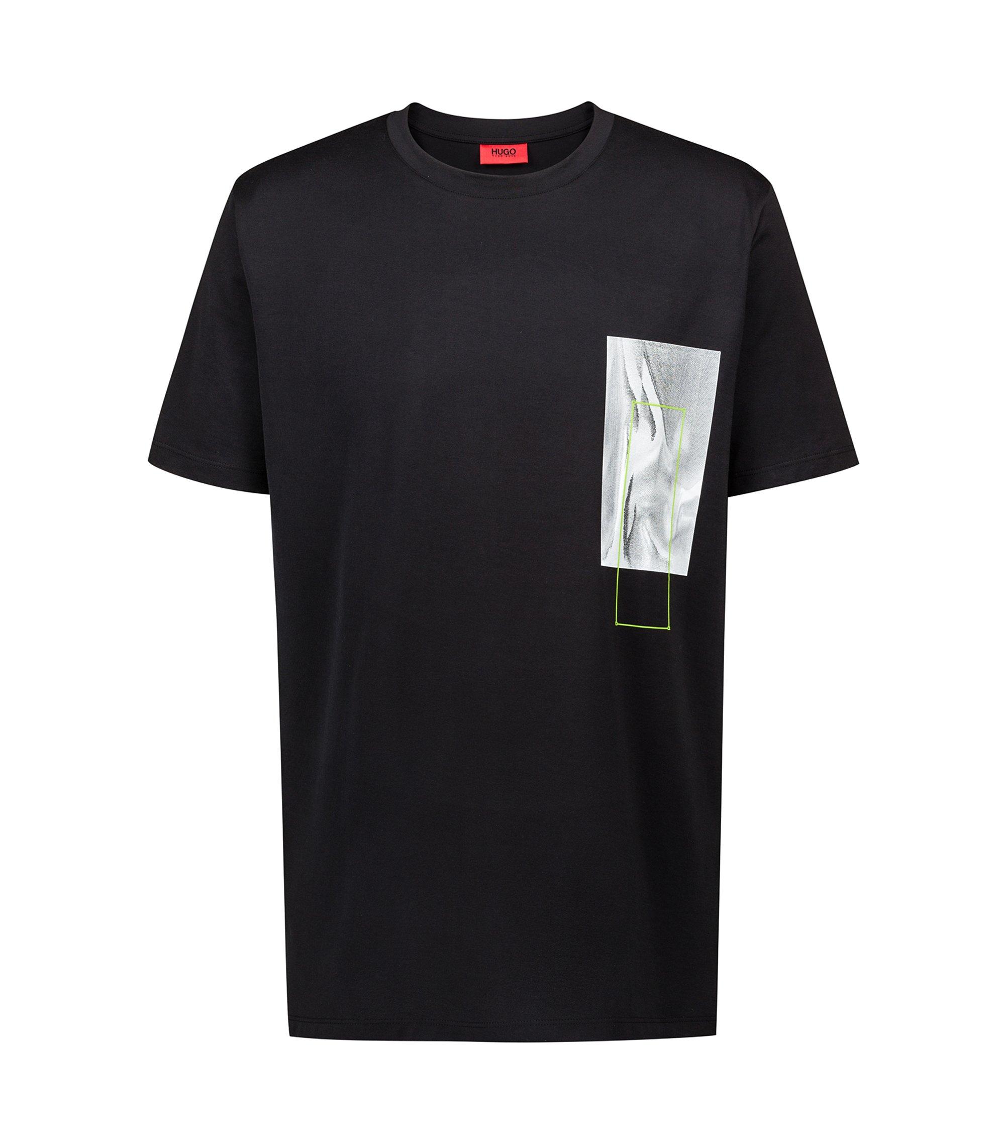 T-shirt relaxed fit con stampa ispirata al mondo digitale della capsule Bits & Bytes, Nero