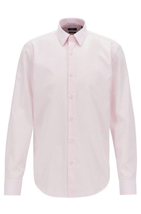 Chemise Regular Fit en popeline de coton facile à repasser, Rose clair