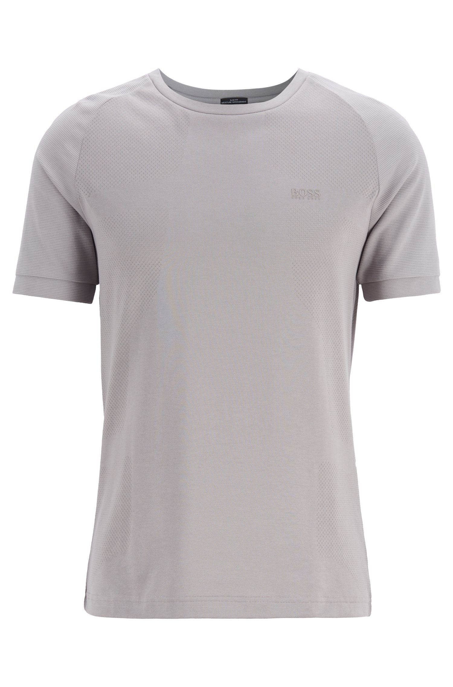 Slim-Fit T-Shirt aus Baumwoll-Mix mit S.Café®-Technologie, Grau