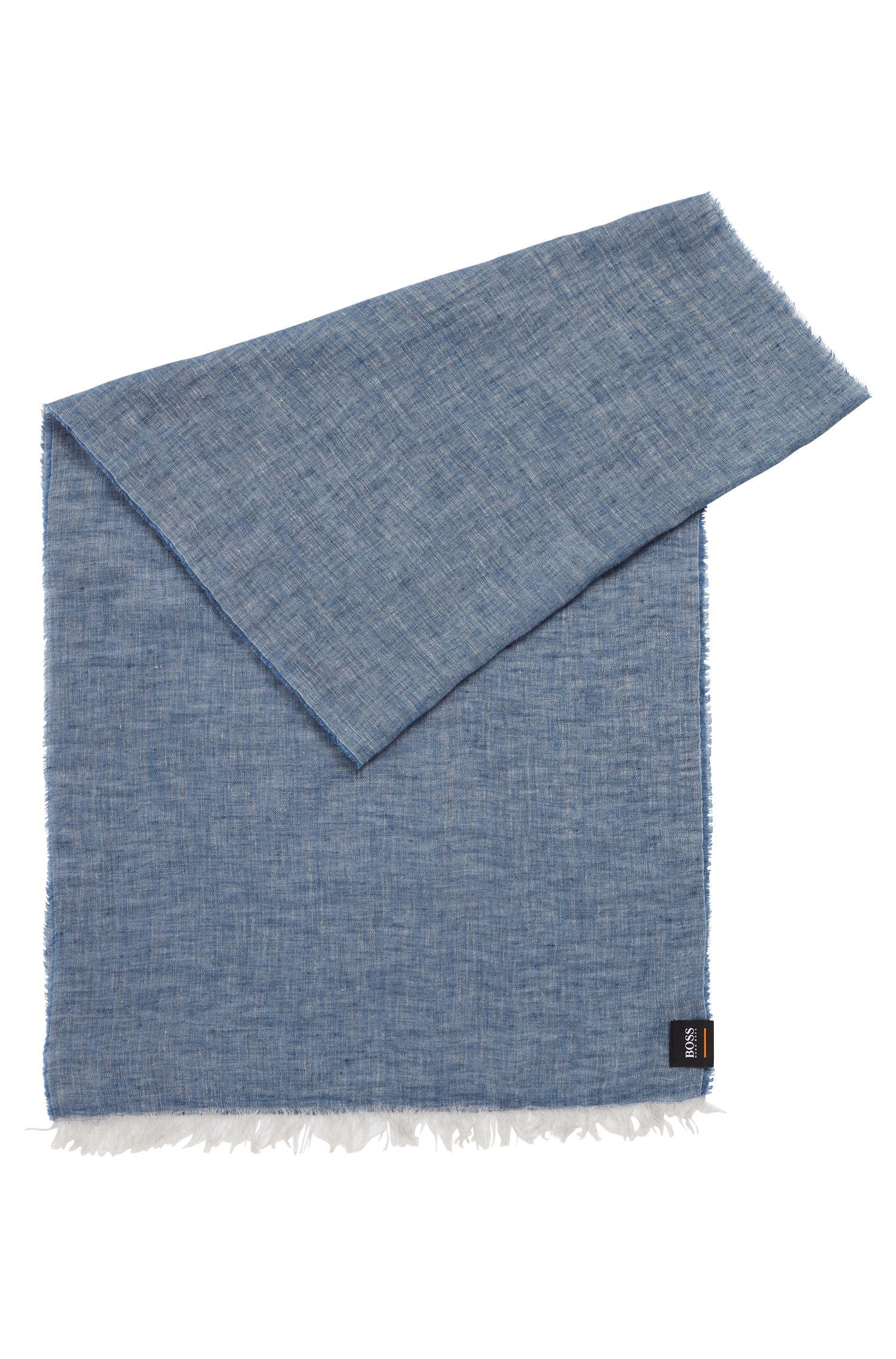 Schal aus Leinen-Chambray mit gewaschenem Finish, Dunkelblau