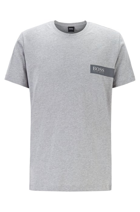 Relaxed-fit underwear T-shirt with chest logo, Grey