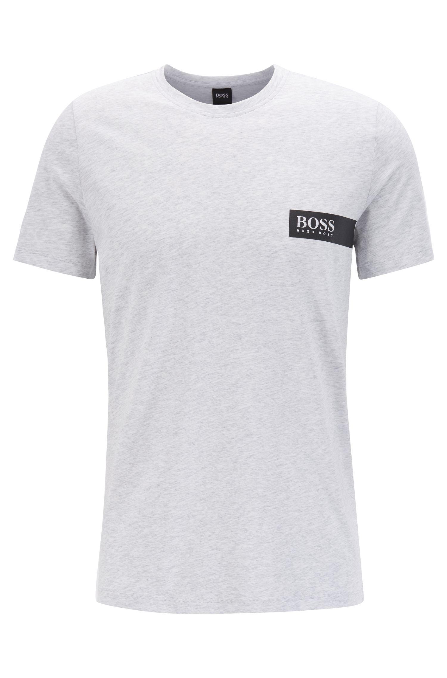 T-shirt Relaxed Fit avec logo sur la poitrine, Argent