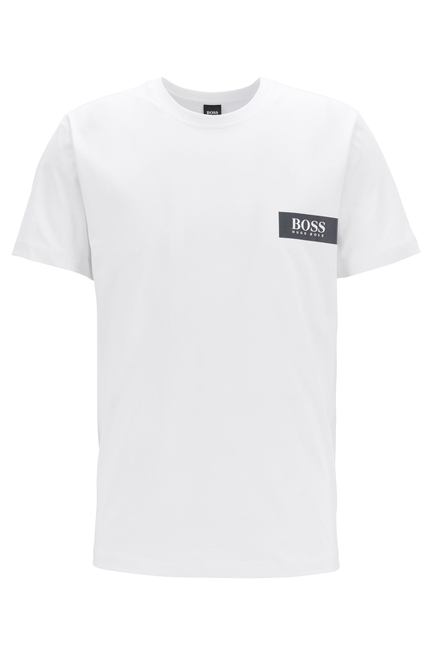 Relaxed-fit underwear T-shirt with chest logo, White