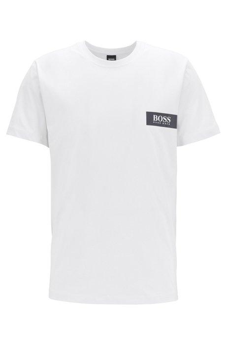 Maglietta intima relaxed fit con logo sul petto, Bianco