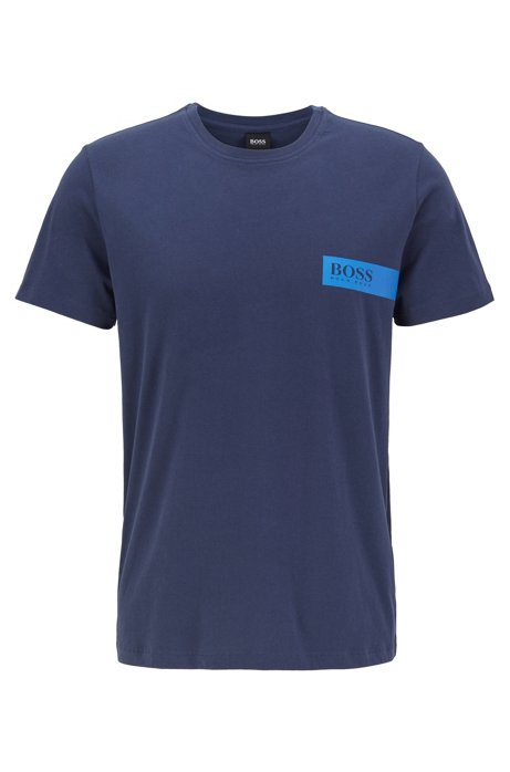 Relaxed-fit underwear T-shirt with chest logo, Dark Blue