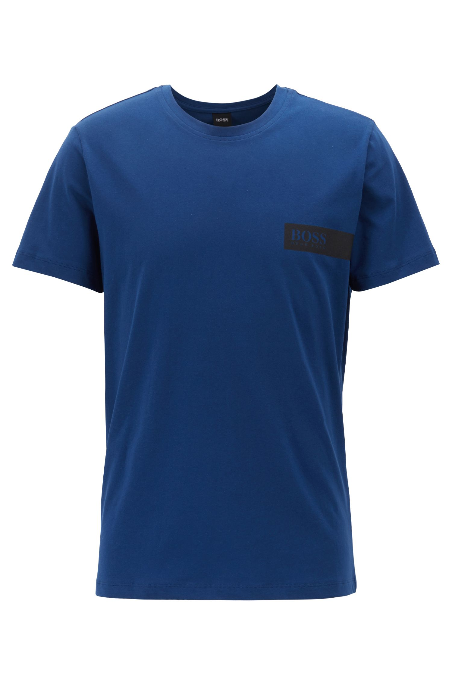 Relaxed-fit underwear T-shirt with chest logo, Blue