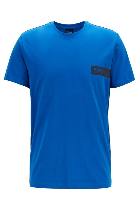 Maglietta intima relaxed fit con logo sul petto, Blu