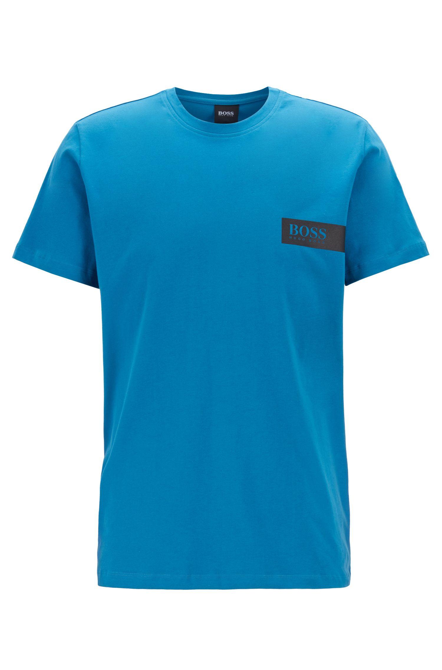 Maglietta intima relaxed fit con logo sul petto, Turchese