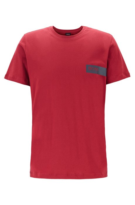 Relaxed-fit underwear T-shirt with chest logo, Red