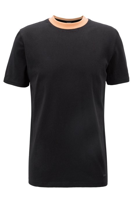 Relaxed-fit T-shirt with screen-print graphic at back, Black