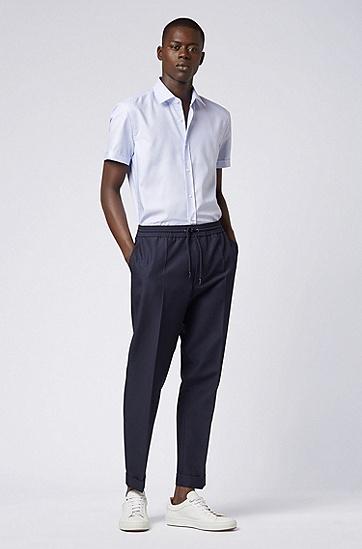 男士商务休闲短袖衬衫,  450_浅蓝色