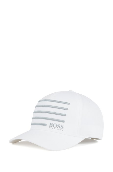 BOSS - Cap with 3D embroidered stripes 017fe4c928c