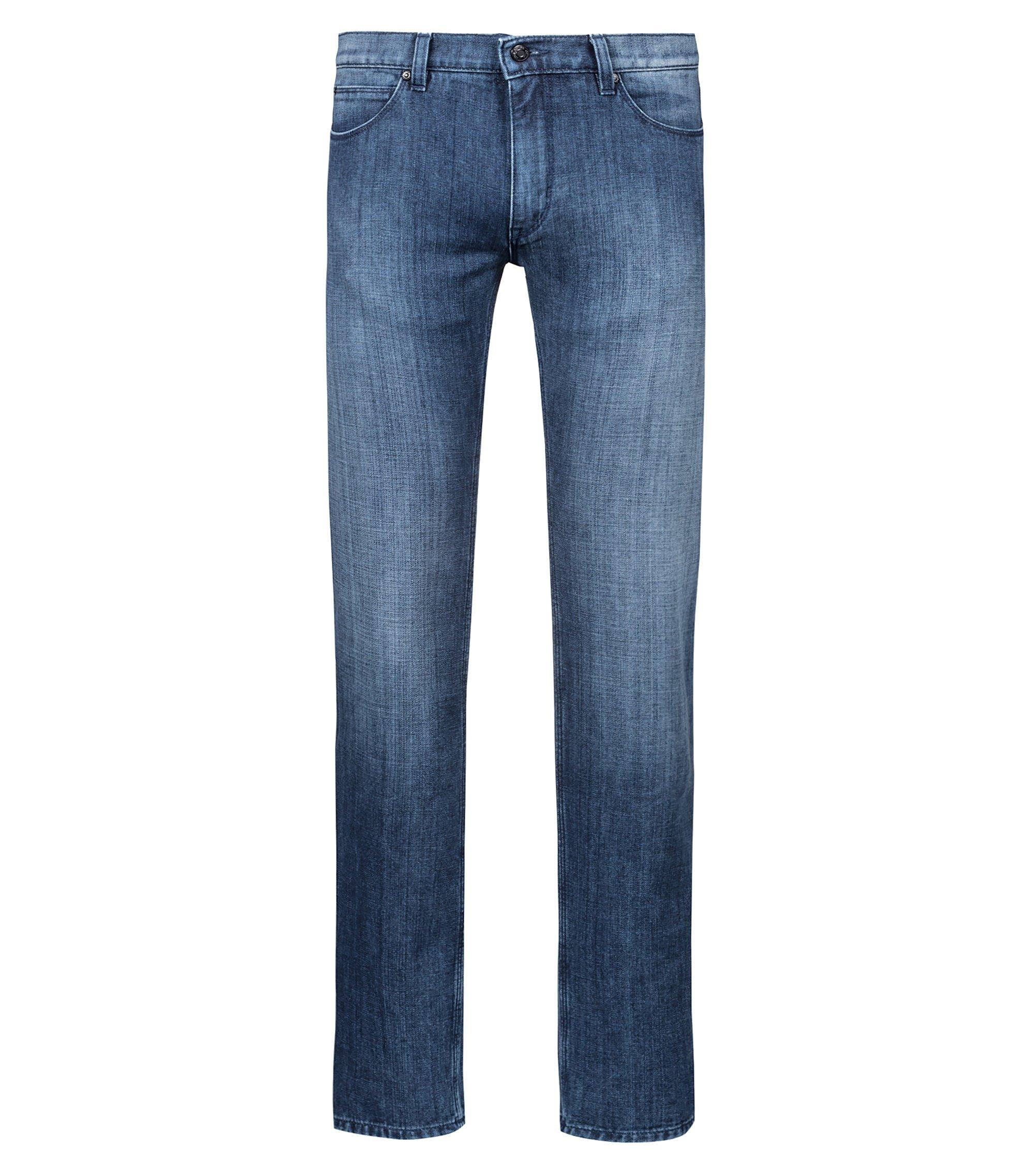 Bits & Bytes Capsule slim-fit jeans in blue-washed denim, Bleu
