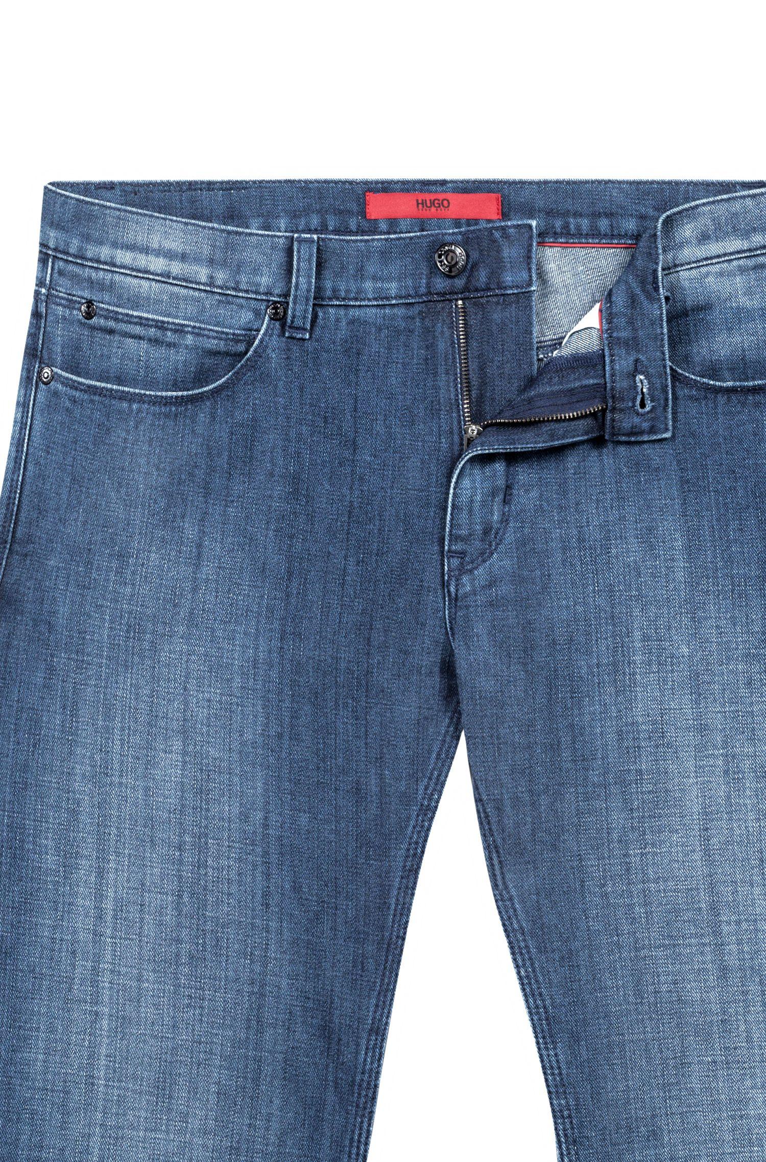 Vaqueros slim fit en denim de lavado azul de la cápsula Bits & Bytes, Azul