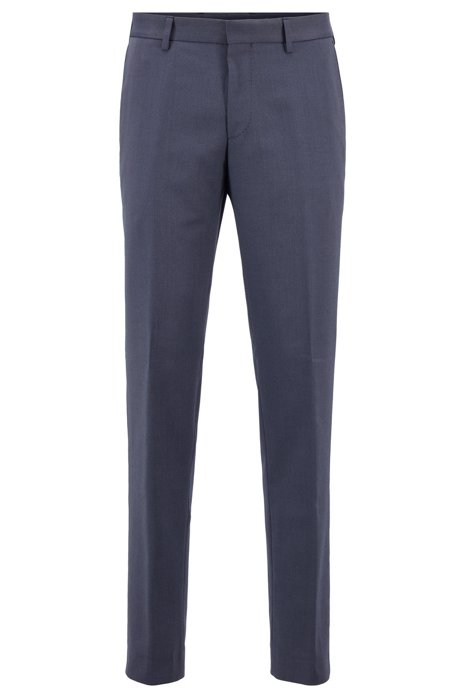 Slim-fit pantalon van wasbaar materiaal, Lichtblauw