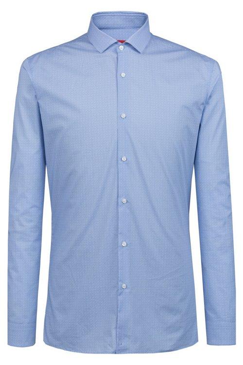Hugo Boss - Camisa extra slim fit de algodón con logo estampado - 1