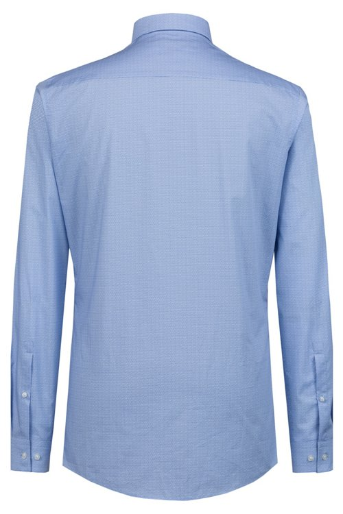 Hugo Boss - Camisa extra slim fit de algodón con logo estampado - 4