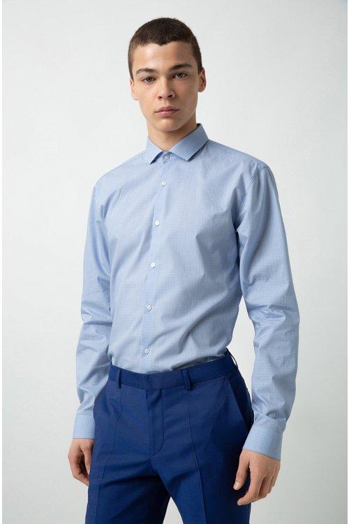 Hugo Boss - Camisa extra slim fit de algodón con logo estampado - 3