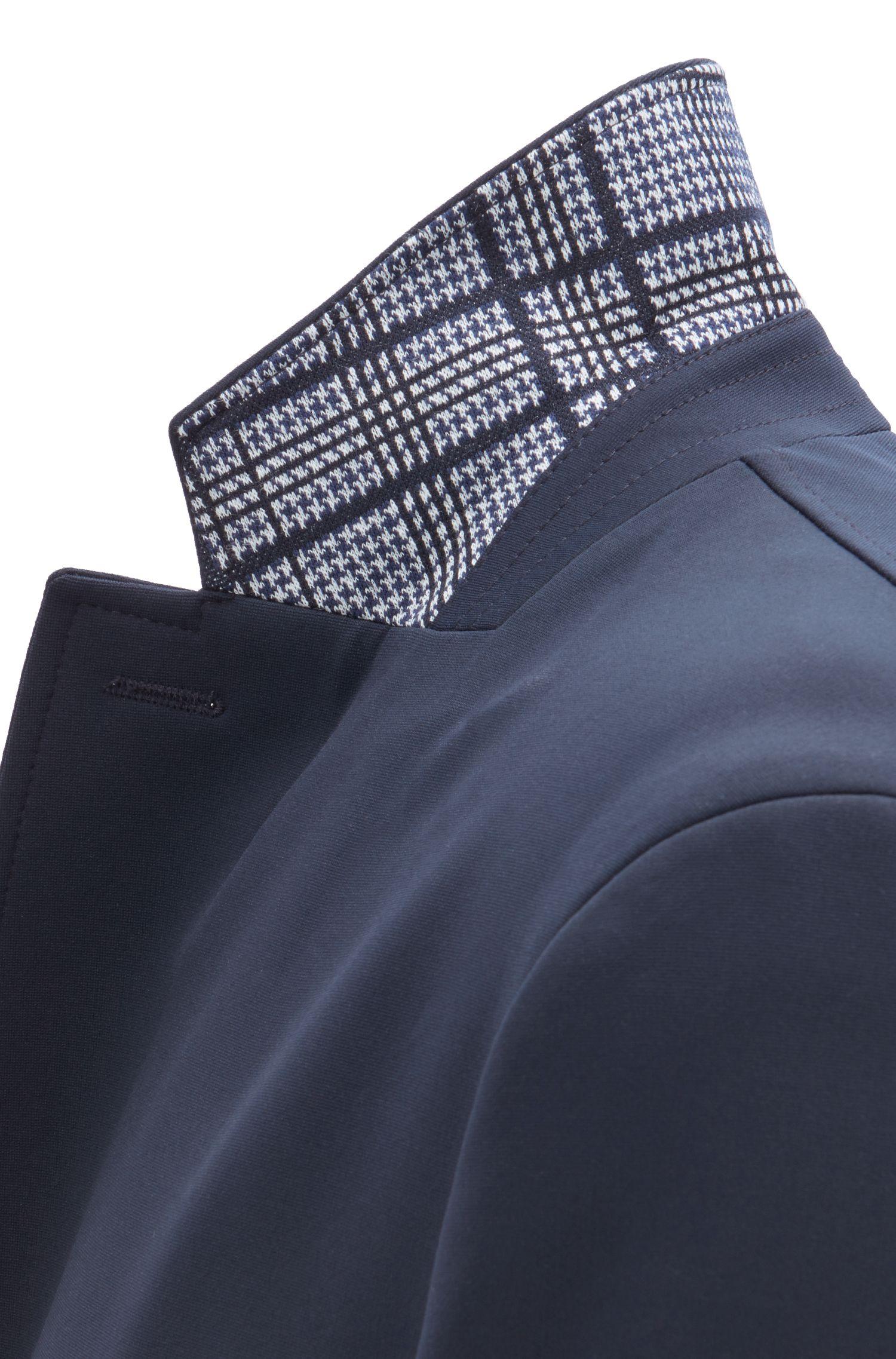 Hugo Boss - Slim-Fit Mantel mit karierter Kragenunterseite - 5