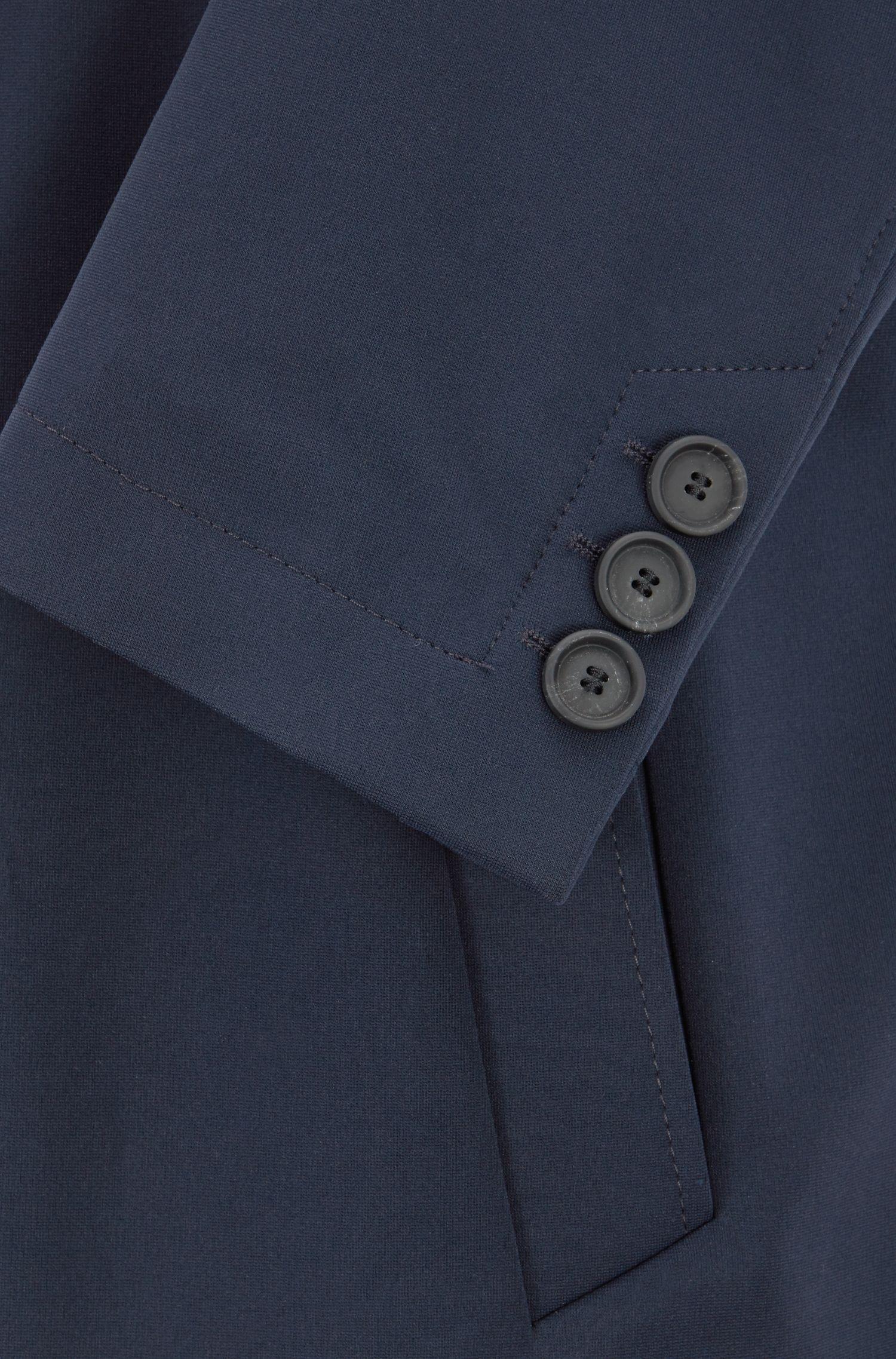 Hugo Boss - Slim-Fit Mantel mit karierter Kragenunterseite - 6