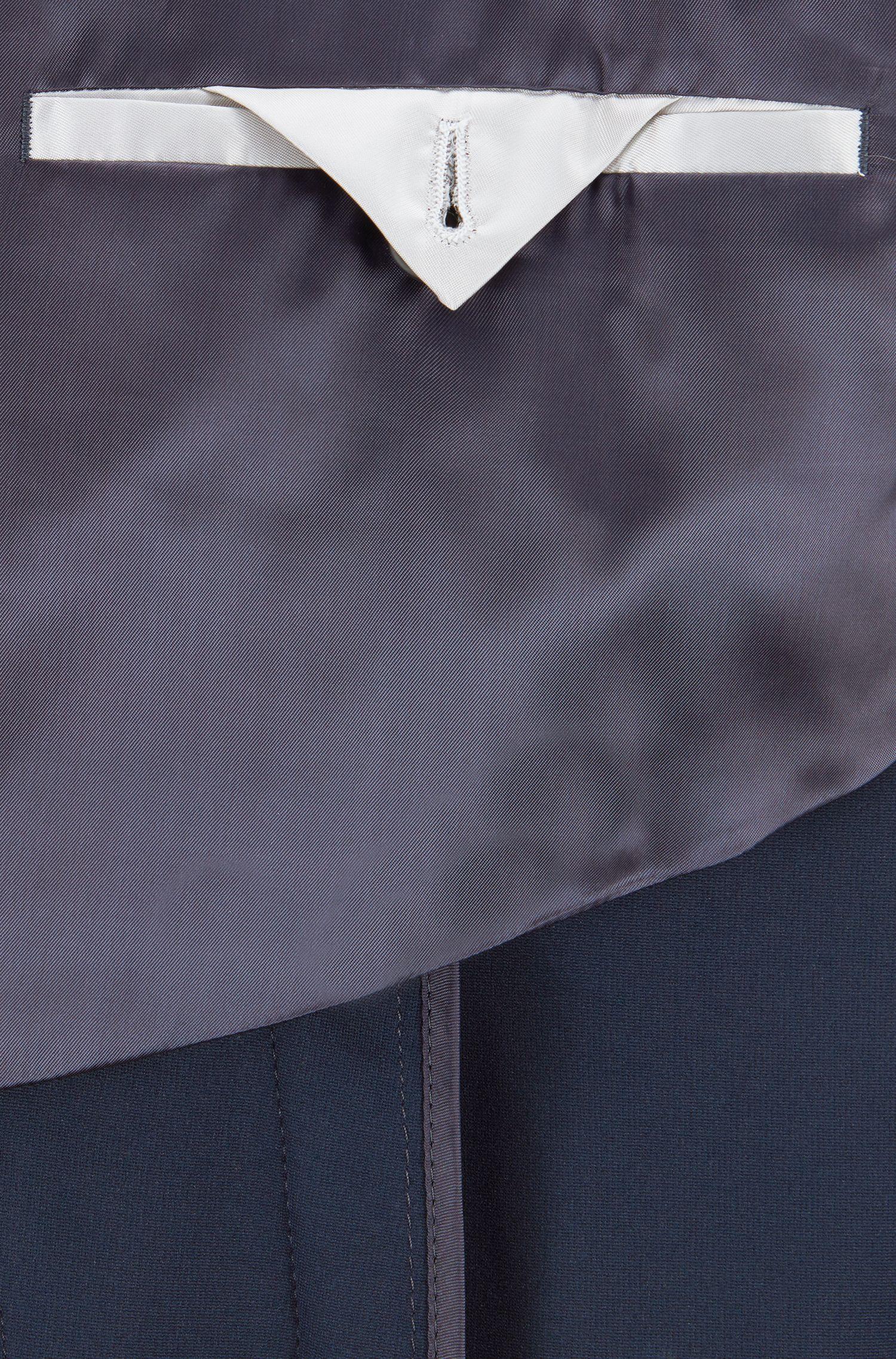 Hugo Boss - Slim-Fit Mantel mit karierter Kragenunterseite - 7
