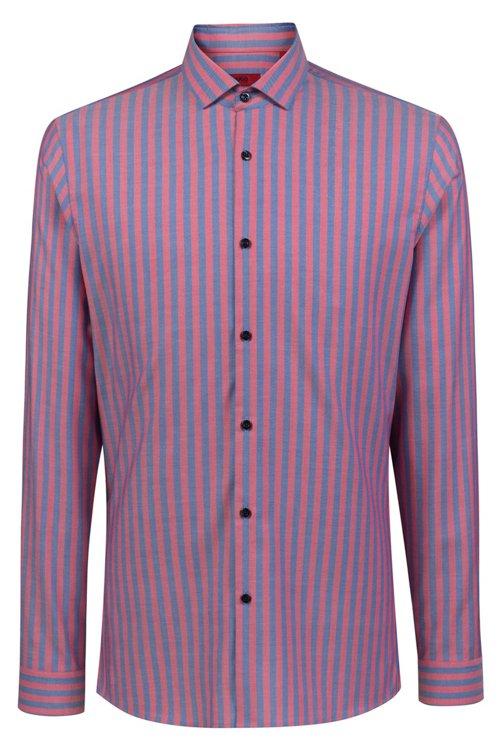 Hugo Boss - Camisa extra slim fit en algodón Oxford a rayas - 1