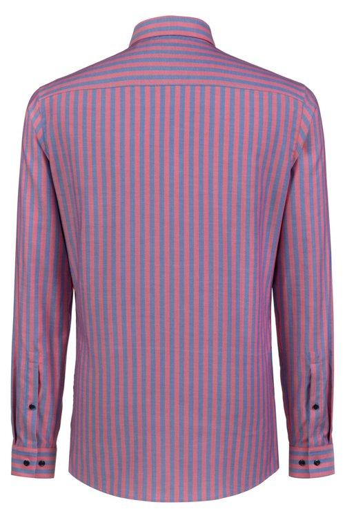 Hugo Boss - Camisa extra slim fit en algodón Oxford a rayas - 4