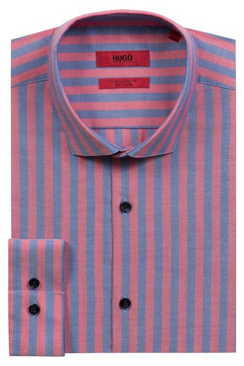 Hugo Boss - Camisa extra slim fit en algodón Oxford a rayas - 5