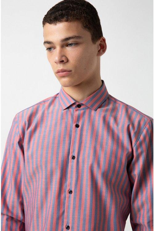 Hugo Boss - Camisa extra slim fit en algodón Oxford a rayas - 3