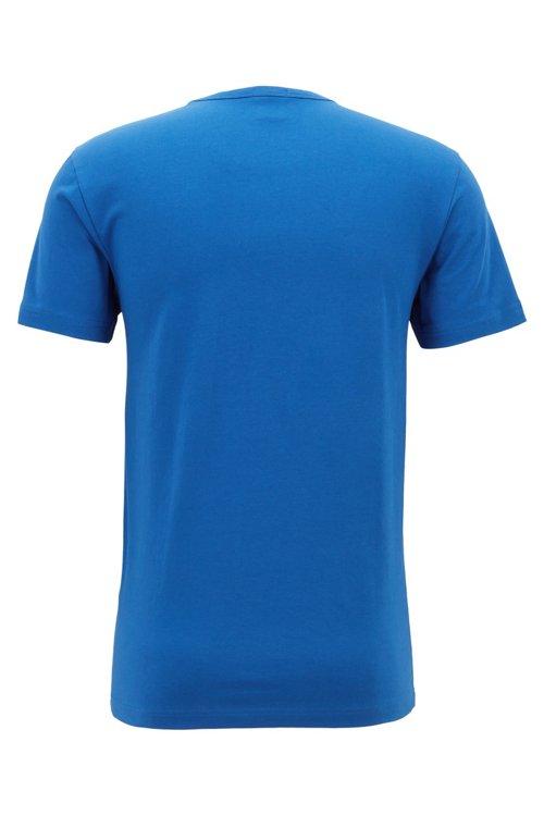 Hugo Boss - Camiseta de cuello redondo en algodón elástico con logo reflectante - 3