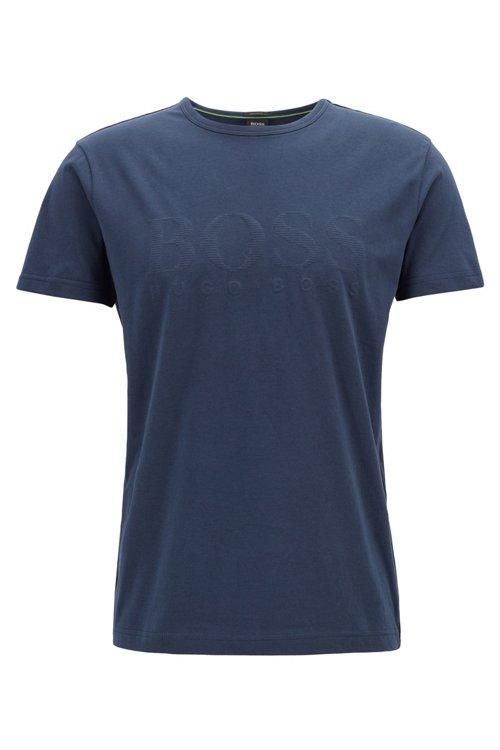 Hugo Boss - Camiseta de algodón con logo estampado en tono a juego - 1