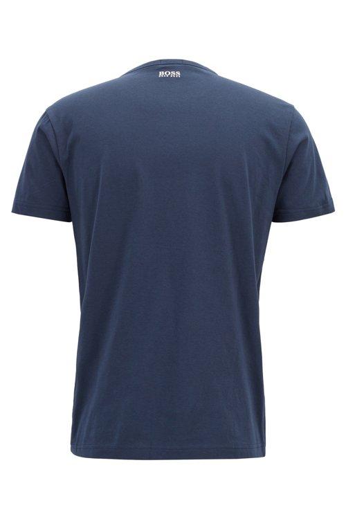Hugo Boss - Camiseta de algodón con logo estampado en tono a juego - 3