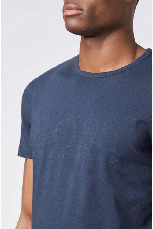 Hugo Boss - Camiseta de algodón con logo estampado en tono a juego - 4