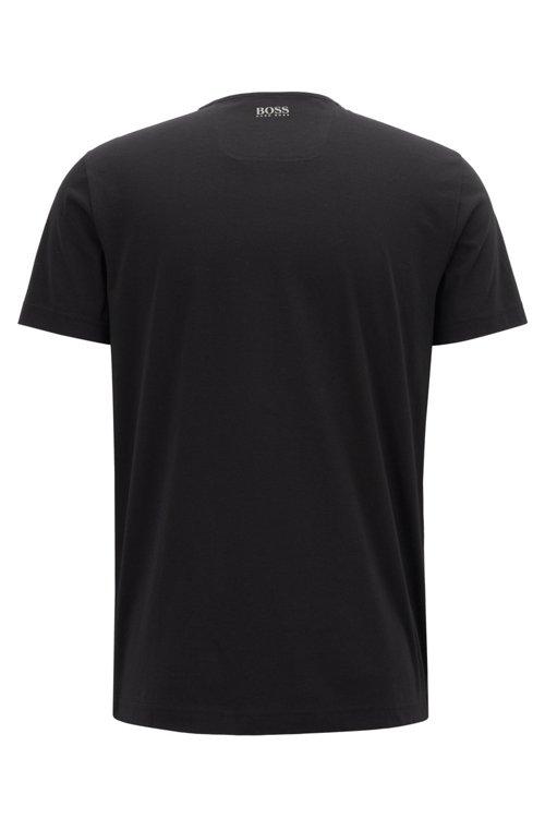 Hugo Boss - Camiseta de punto de algodón con logo estampado lenticular de goma - 3
