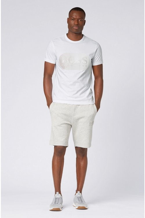 Hugo Boss - Camiseta de punto de algodón con logo estampado lenticular de goma - 2