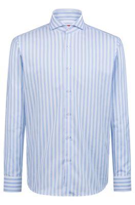 Regular-Fit Hemd aus Oxford-Baumwolle mit Cutaway-Kragen, Gemustert